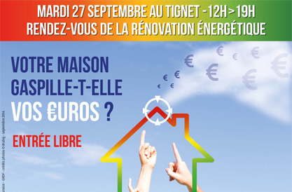 le rendez-vous de la rénovation énergétique – 27 Septembre de 12h à 19h